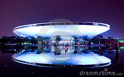 The Culture Center at World Expo in Shanghai Editorial Stock Photo