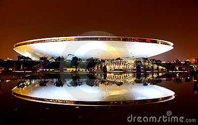 The Culture Center at the World Expo in Shanghai Editorial Stock Photo
