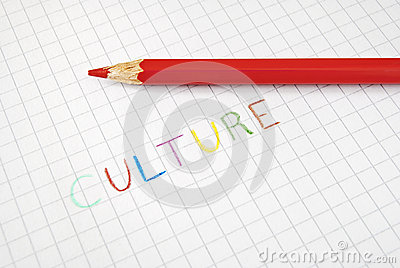 Culture coloured writing