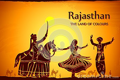 culture of rajasthan stock illustration image 41869293