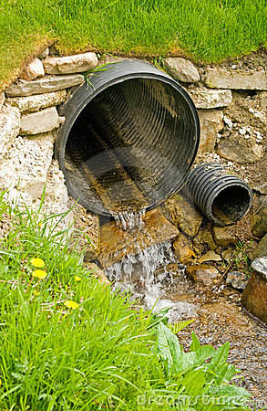 Free Culvert For Diversion Of Surface Water . Stock Photos - 14374803