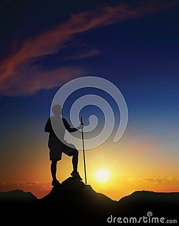 Cumbre en el amanecer