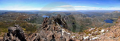 Cumbre Tasmania de la montaña de la horquilla