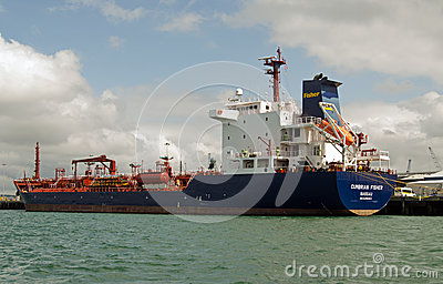 Cumbrian Fisher Oil Tanker, Portsmouth Imagem Editorial