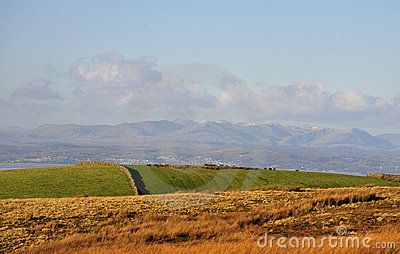 Cumbrian mountains from the Bowland moors