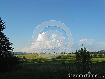 Cumulous on Idaho Landscape