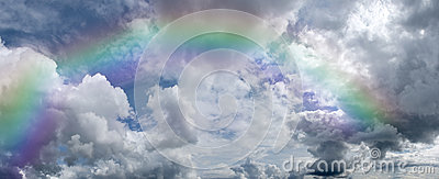 Cumulus clouds rainbow