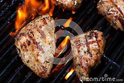 Cuocere pollo alla griglia