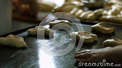 Cuocia i panini del dessert stock footage