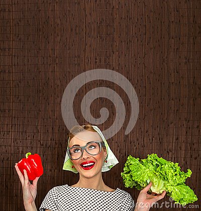 Cuoco divertente della donna