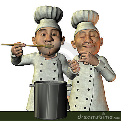 Cuoco unico con minestra calda
