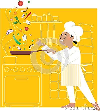 Cuoco unico nella cucina