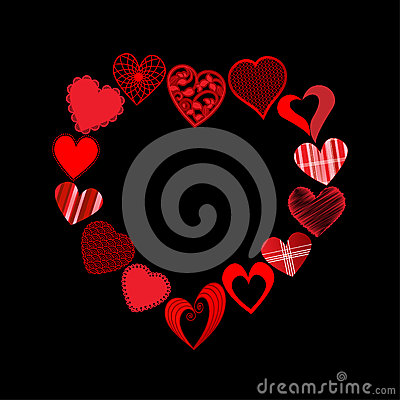 Cuori nella forma del cuore