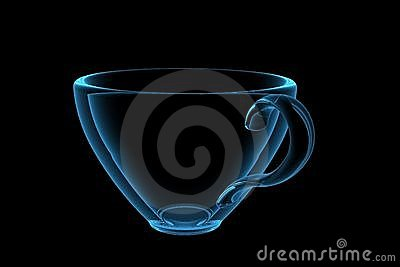 Cup 3D xray blue