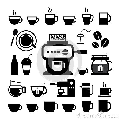 Free Cup And Coffee Icon Set Royalty Free Stock Images - 51427039