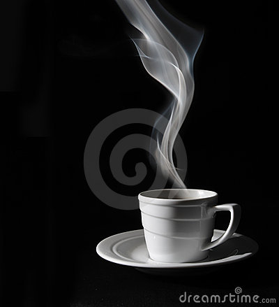 Free Cup Black Coffee, Steam Stock Photo - 4533180