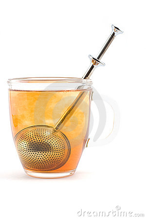 Cup of brewing tea