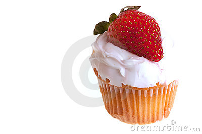 Cup cake with strawberry