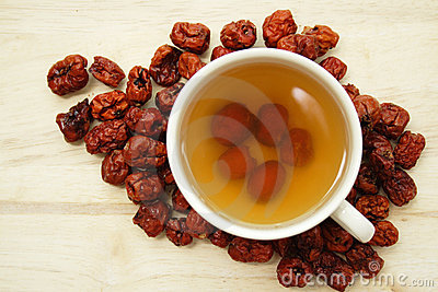 Cup of chinese red date tea