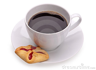 Cup of coffe and cookies