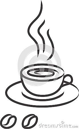 Cup coffee black vector coffe cofe