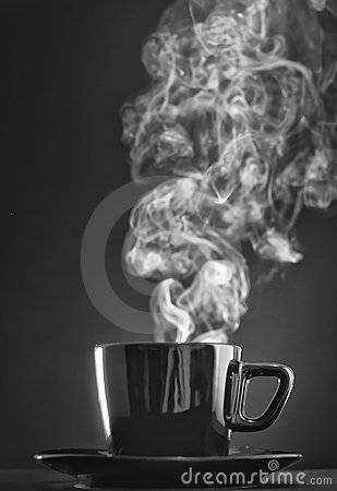 Cup of coffee with nice flow sensation