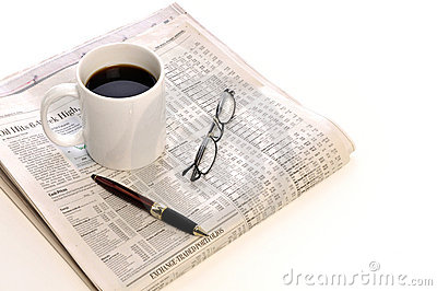 Cup of Coffee and paper