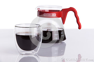 Cup of coffee and pour-over