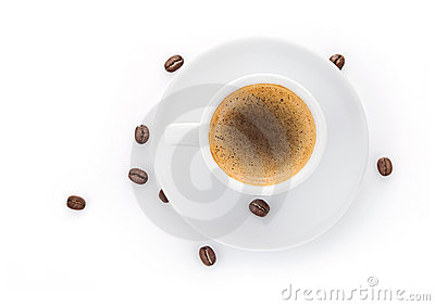 Cup coffee on saucer