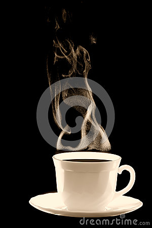 Cup coffee steam