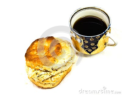 Cup of Coffee/Tea Chicken Biscuit