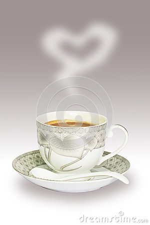 A cup of coffee to you with love