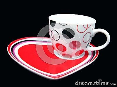 Cup on DEsigner Saucer