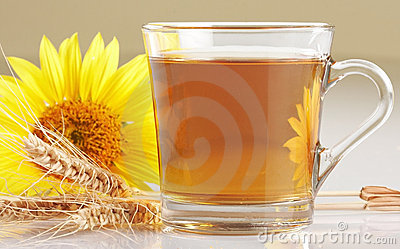 Cup of flower tea