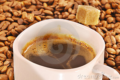 Cup of fresh brewed coffee