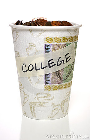 Cup full of change, College