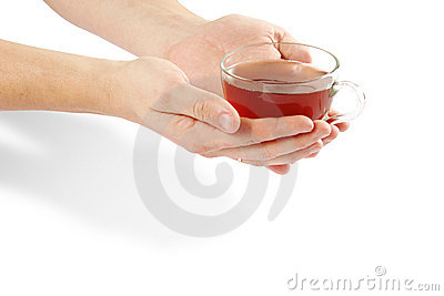 Cup and hands