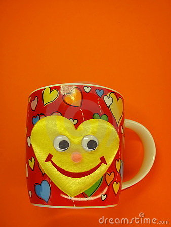 Cup with hears and smile
