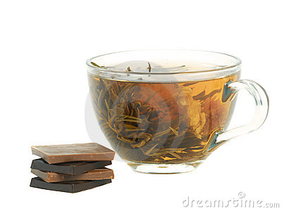 Cup with herbal tea