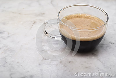 Cup of italian coffee  on marble