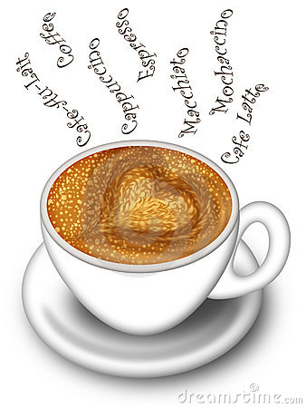 Cup Of Latte Cappuccino Made With Love Royalty Free Stock Images ...