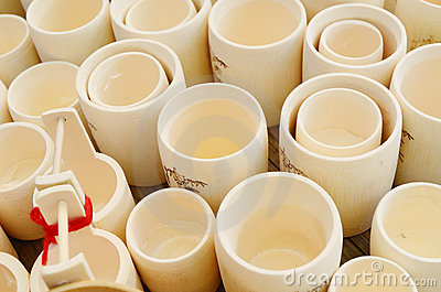 Cup made of bamboo