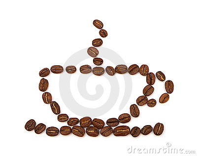 Cup made ​​from coffee beans