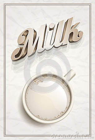 Cup of Milk Poster Template