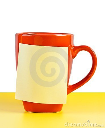 Cup with note paper