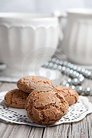 Free Cup Of Coffe Or Tea And Cookies Stock Photos - 28162503