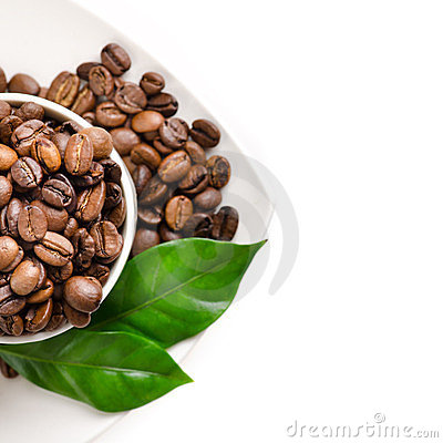 Free Cup Of Coffee Beans Royalty Free Stock Photo - 24131495