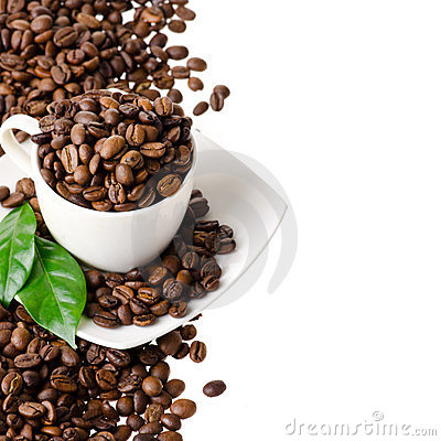 Free Cup Of Coffee Beans Royalty Free Stock Photography - 24131507