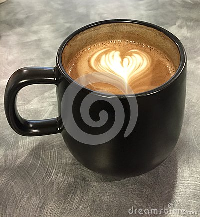 Free Cup Of Coffee With A Heart Stock Image - 49800711