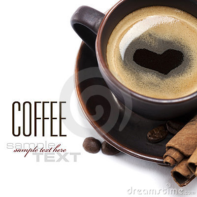 Free Cup Of Coffee With Heart Stock Image - 17738751